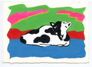 cow painting by Phil Dynan
