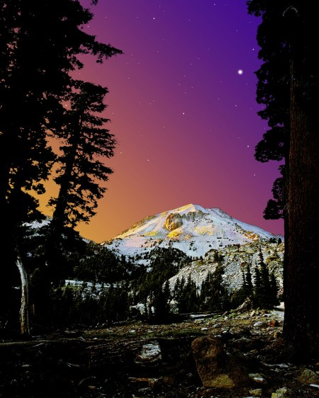 Nightfall on Lassen